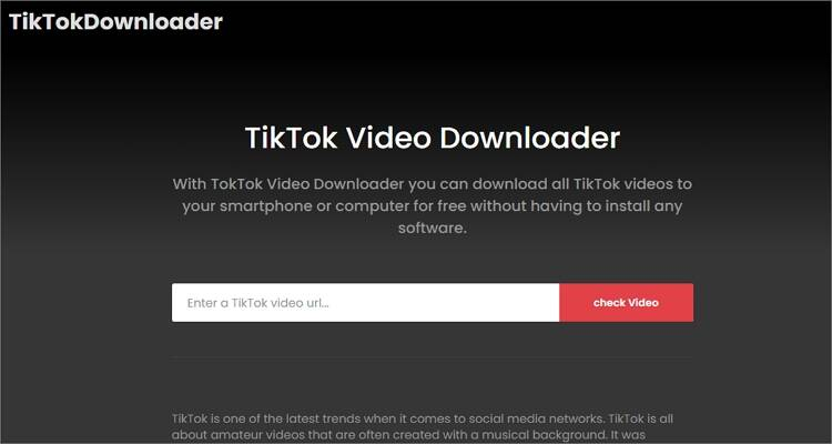 Free TikTok Converter Apps- TikTok Downloader