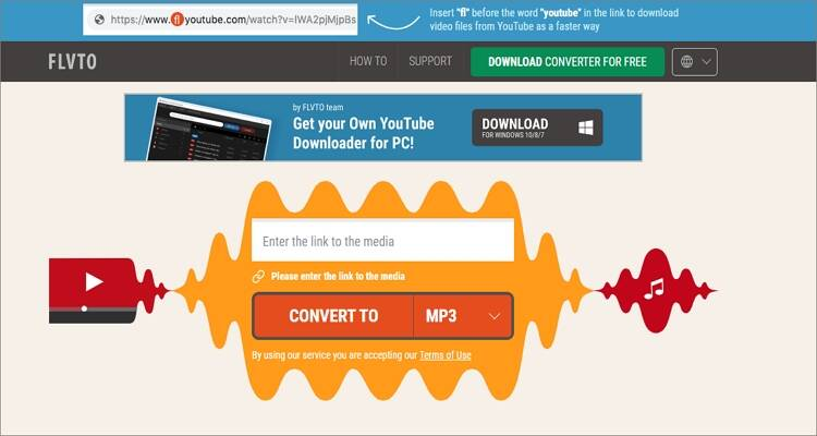 Free TikTok Converter Apps- Flvto
