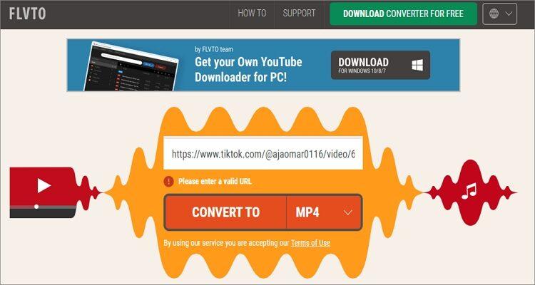 Free TikTok Converter Apps - Flvto