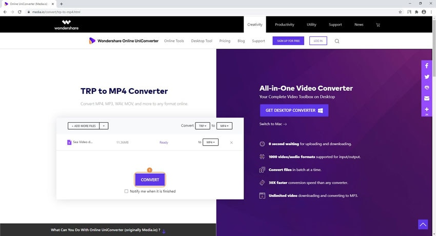 convert and download