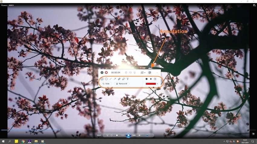 Start capturing the computer screen