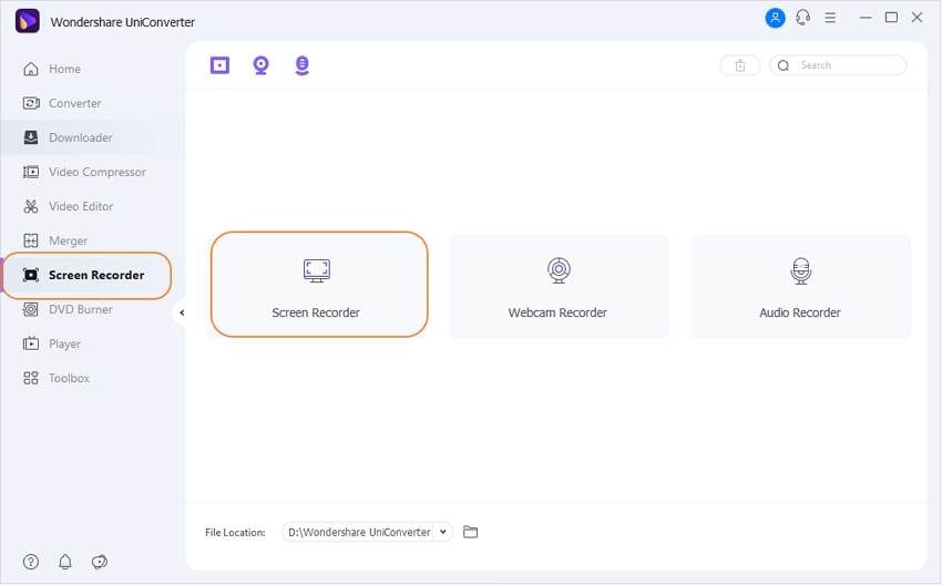 Bildschirm Recorder Tool öffnen