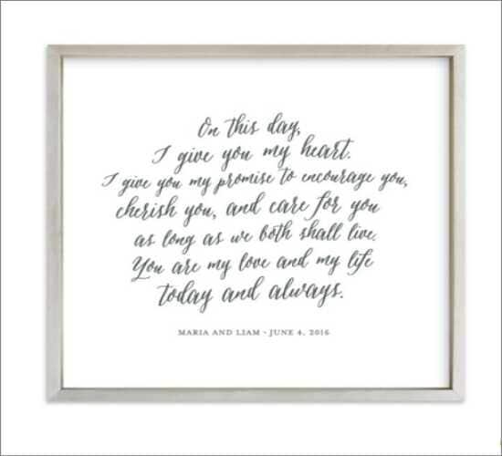Wedding Vows Art Print