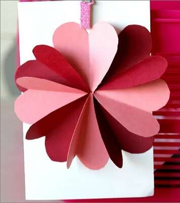 Using Folded Paper Hearts