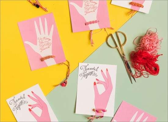 Confetti Heart Valentine Card