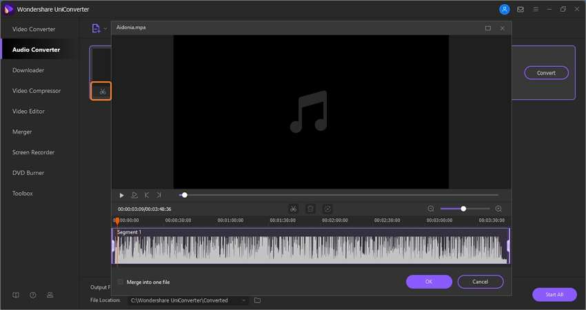 Edit audio by trimming (Optional)