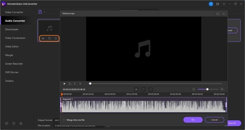 Trim MPA audio (Optional)