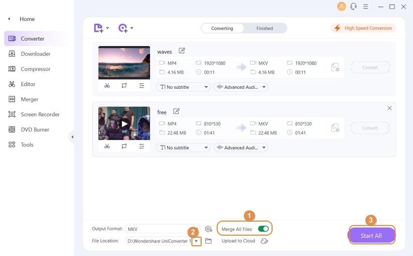 merge videos using VLC