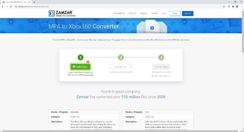 load files into Wondershare Free Video Converter
