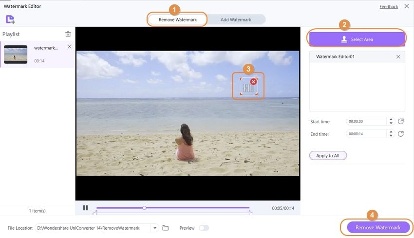 remove watermark from video uniconverter 13