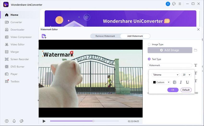 watermark maker wondershare uniconverter
