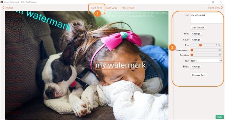 watermark to photos step 2