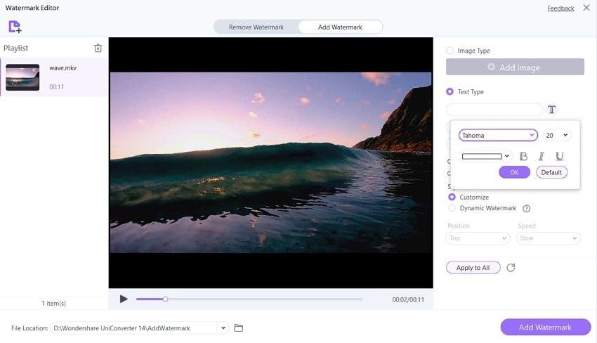 watermarking app wondershare uniconverter