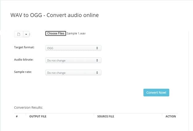 WAV to OGG online converter - AConvert