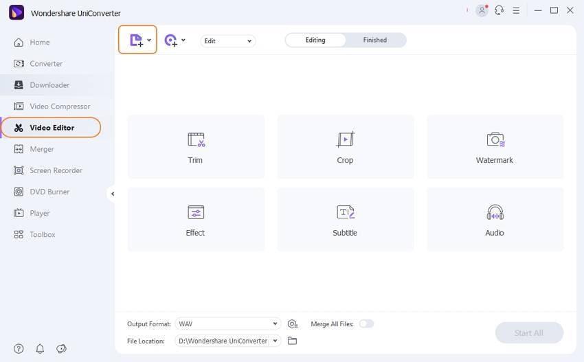 add WAV files to edit