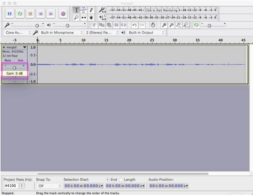 Wie man die Lautstärke einer WAV Datei mit Audacity erhöht