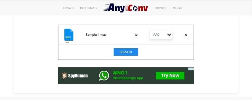 AIFF to WAV Converter - AnyConv