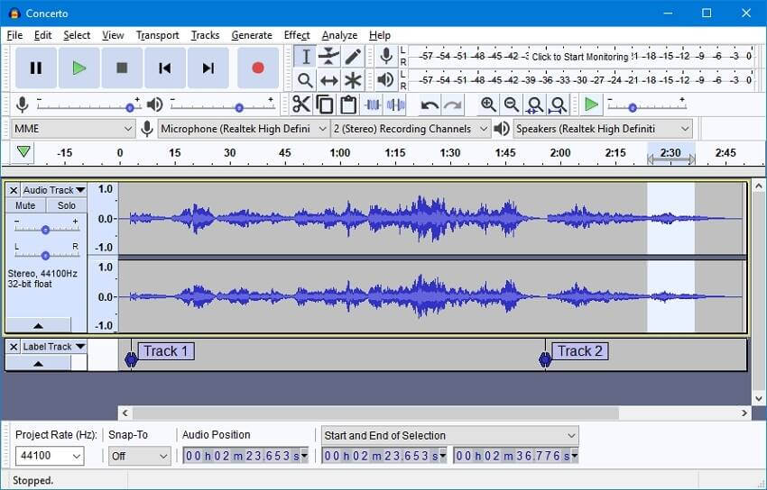 VLC alternative to convert WAV to MP3 - Audacity