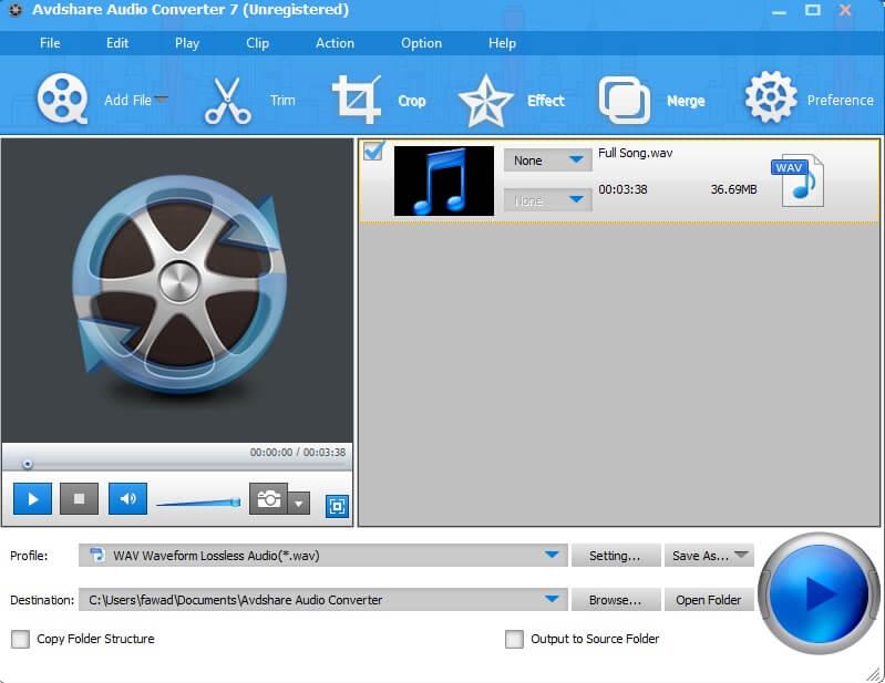 DTS to WAV - AvdShare Audio Converter