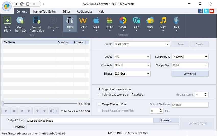 Video to WAV converter - AVS Audio Converter