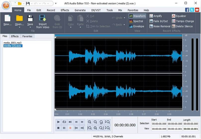 Edit WAV with AVS Audio Editor