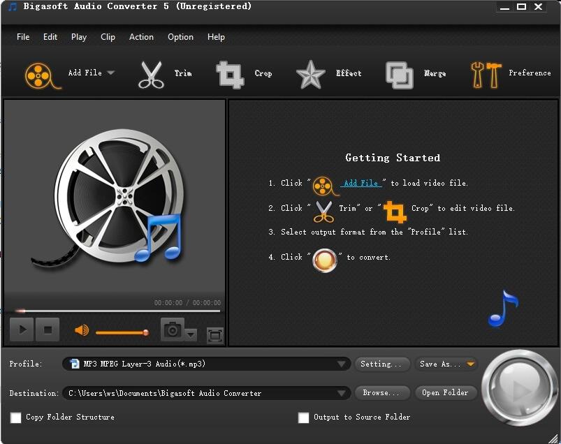 DTS to WAV - Bigasoft Audio Converter