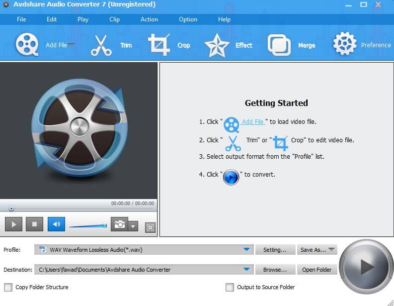 AvdShare Audio Converter to convert CDA to WAV