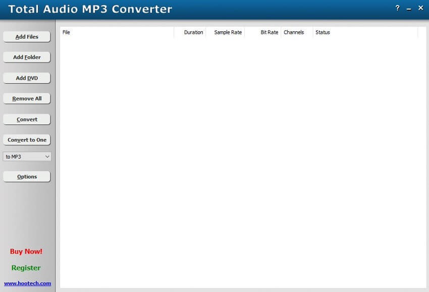 convert CDA to WAV with Total Audio MP3 Converter