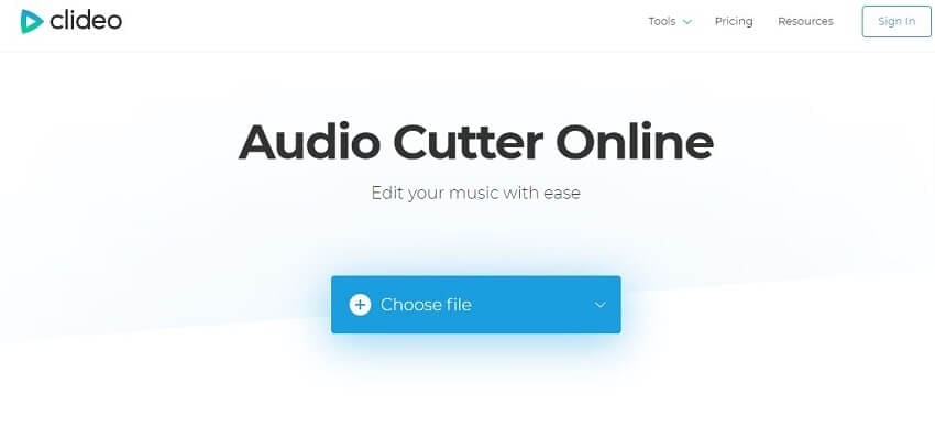 Cut WAV with Clideo