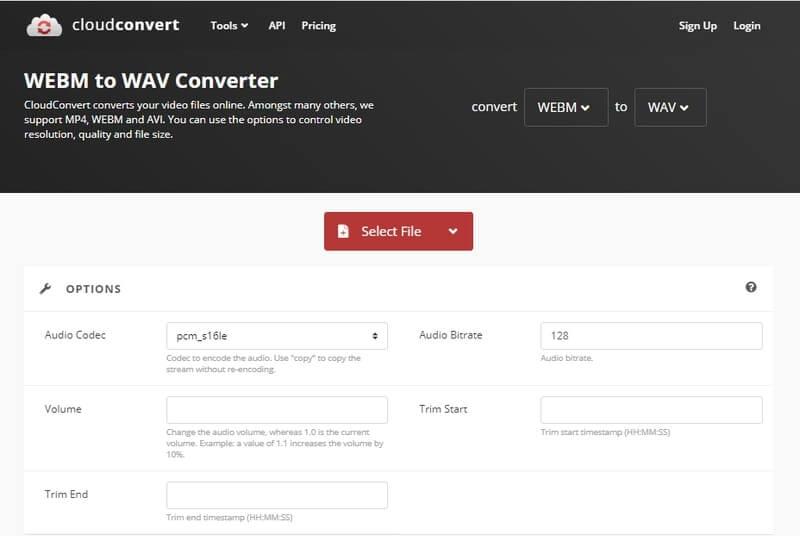 WebM to WAV - CloudConvert