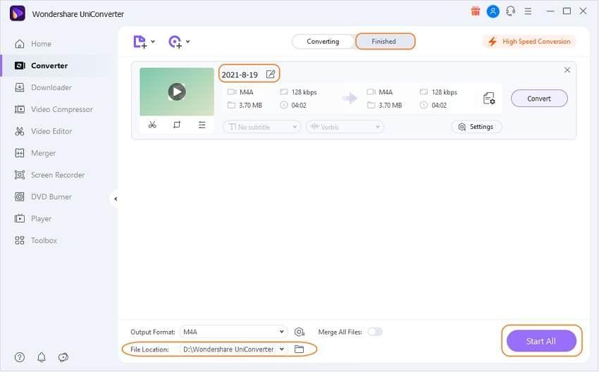 Convert the recorded MIDI file to WAV