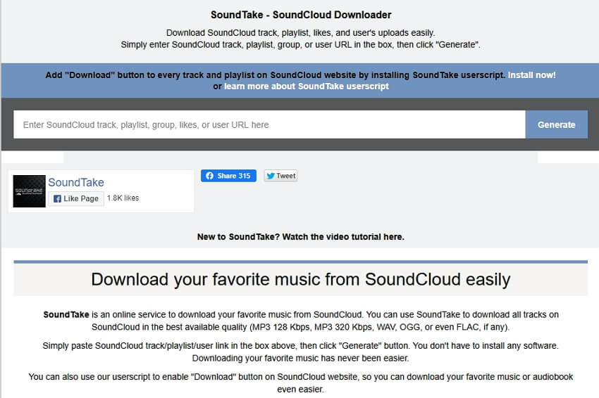 Soundcloud to WAV Converter - Soundtake