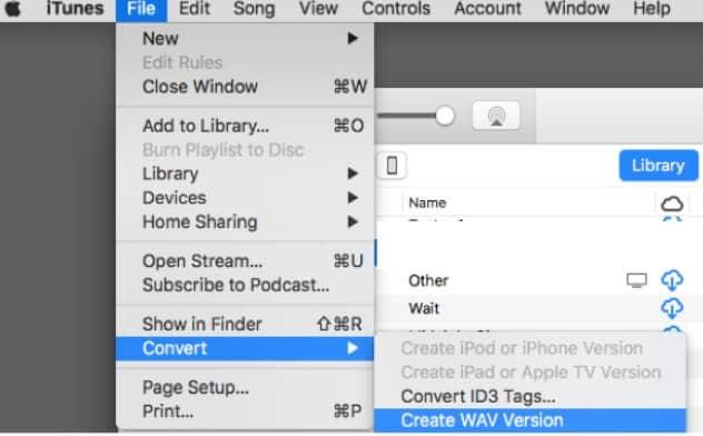 Convert WAV to 16 bitrate in iTunes