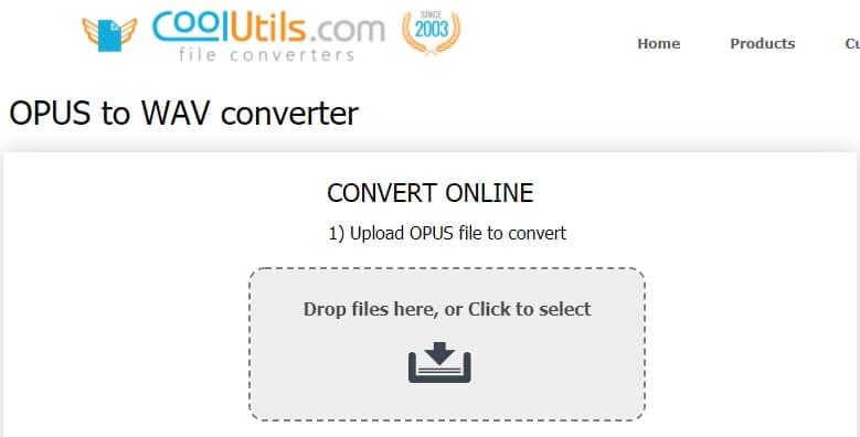 Opus to WAV Converter - CoolUtilis