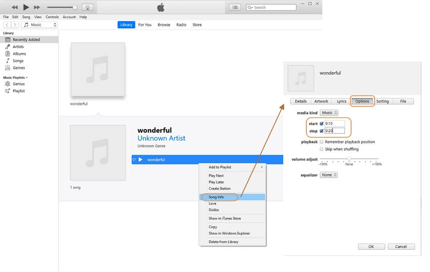 Edit the file be an iPhone ringtone