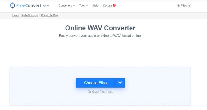 Online Video to WAV converter - FreeConvert