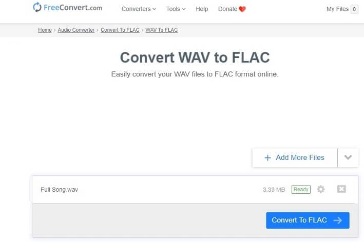 Convert WAV to FLAC online with FreeConvert