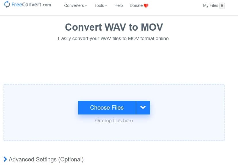 Convert WAV to MOV onlinewith FreeConvert