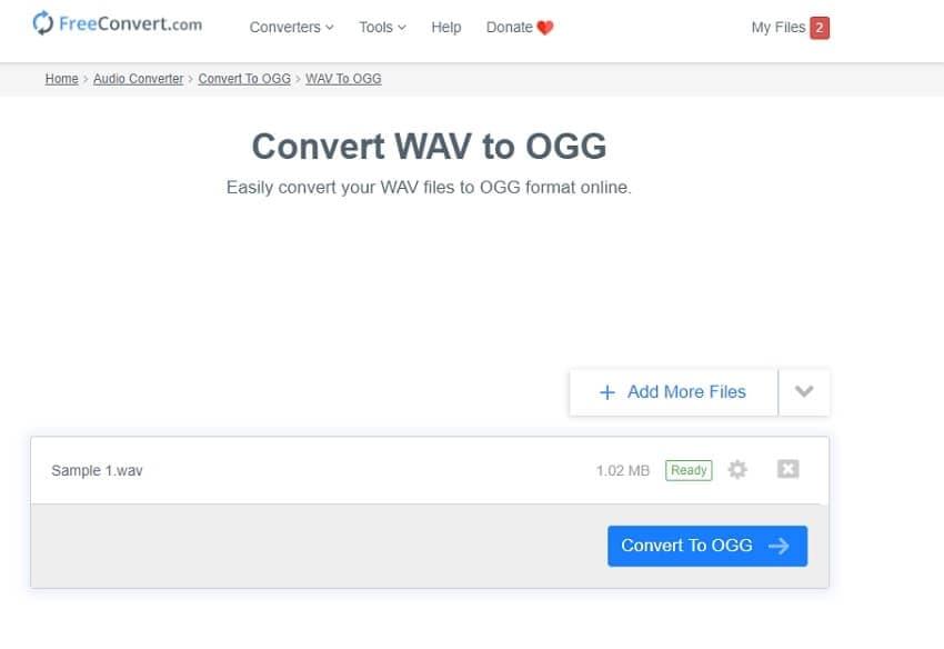 WAV to OGG online converter - FreeConvert