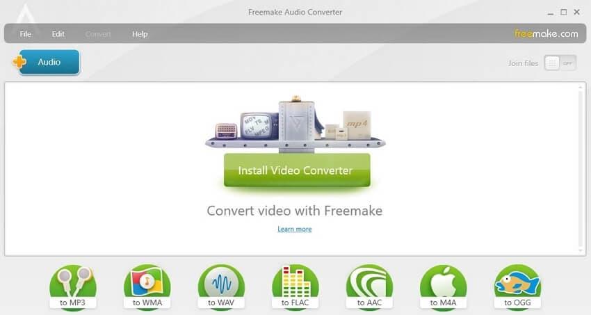 Convert WAV to FLAC with Freemake Audio Converter