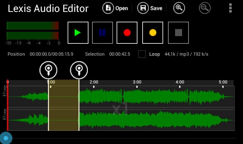 Record WAV - Lexis Audio Editor