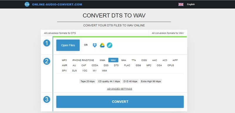 Online Video to WAV converter - Online Audio Converter