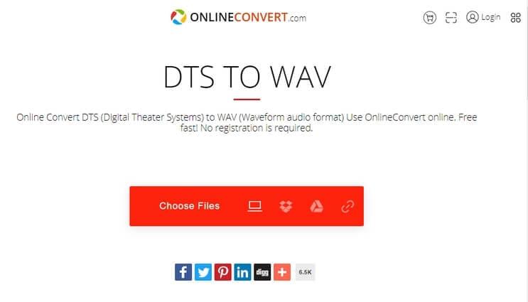 DTS to WAV - Online-Convert