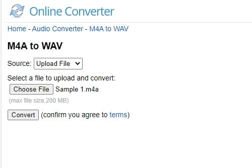 M4A to WAV Converter - Online Converter