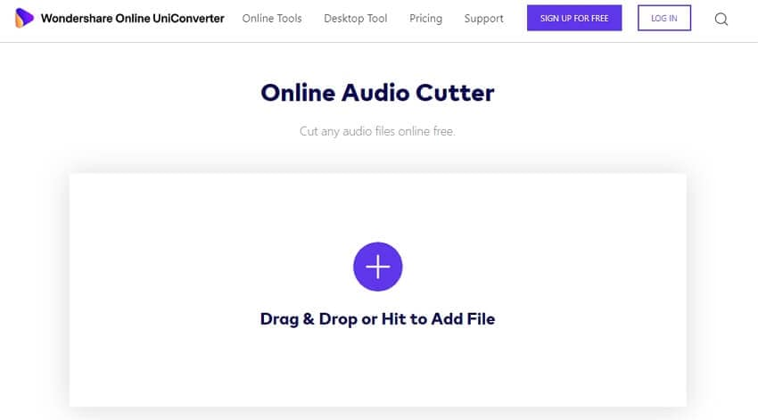 Cut WAV with Online UniConverter