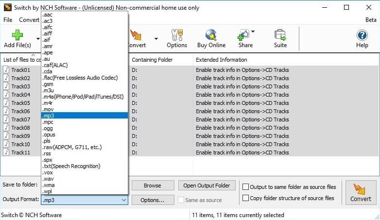 WAV to OGG converter - Switch Audio File Converter