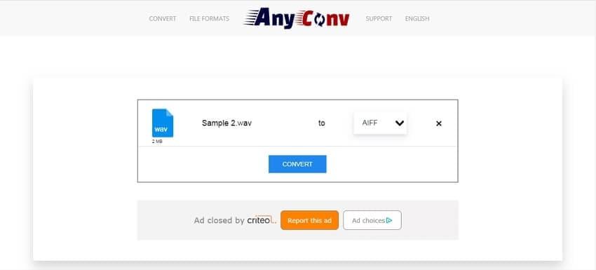 WAV to AIFF converter - AnyConv