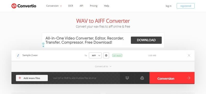 WAV to AIFF converter - Convertio