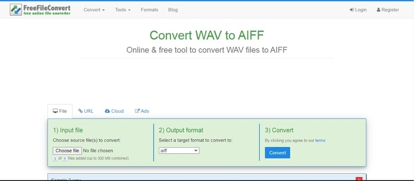 WAV to AIFF converter - FreeFileConvert