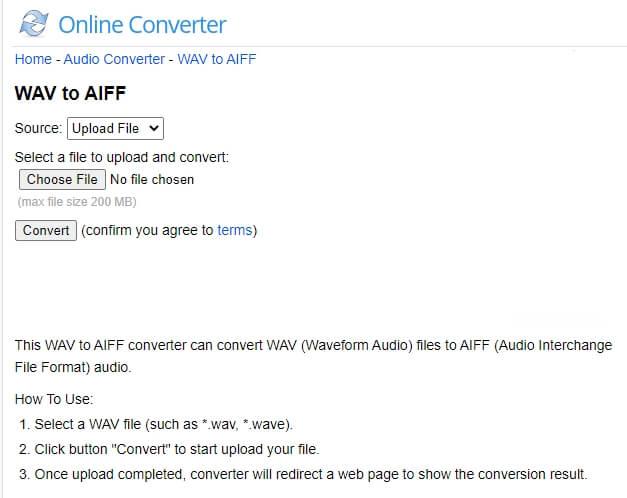 WAV to AIFF converter - Online Converter